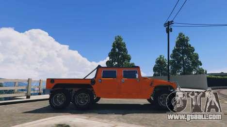 GTA 5 Hummer H1 6X6 v2.3 left side view