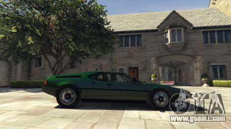 GTA 5 BMW M1 1979 (E26) v1.9.1 left side view