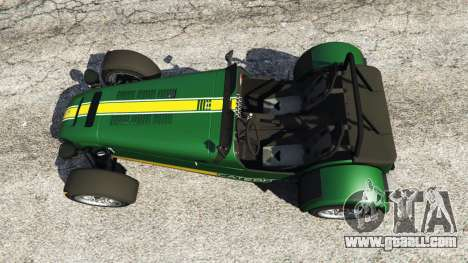 GTA 5 Caterham Super Seven 620R v1.5 [green] back view