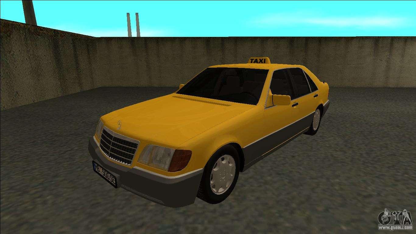 Mercedes benz w140 500se taxi 1992 for gta san andreas for Mercedes benz 500se