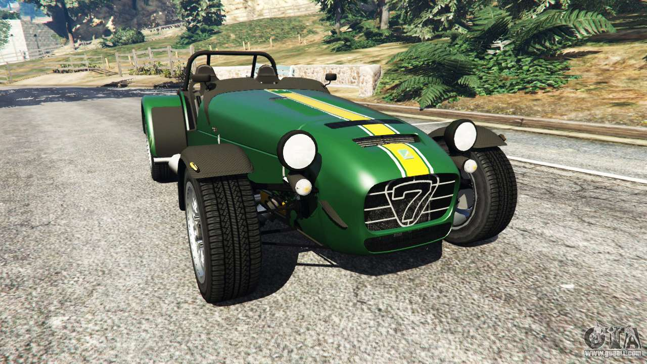 caterham super seven 620r v1 5 green for gta 5. Black Bedroom Furniture Sets. Home Design Ideas