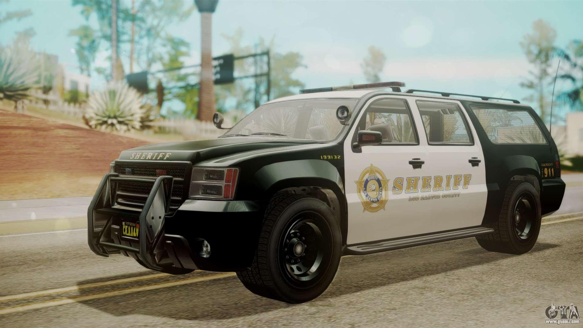 GTA 5 Declasse Granger Sheriff SUV IVF for GTA San Andreas