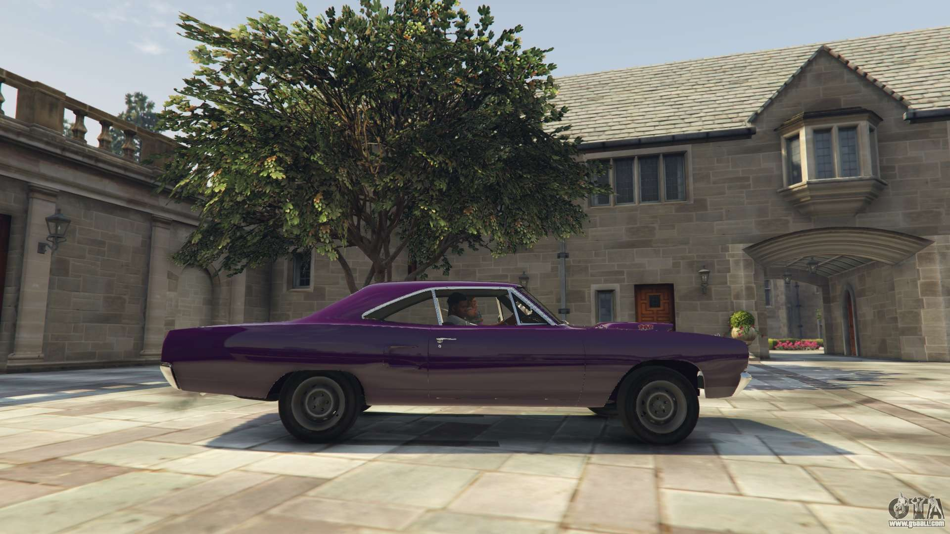 Gta 5 plymouth road runner 1970 left side view