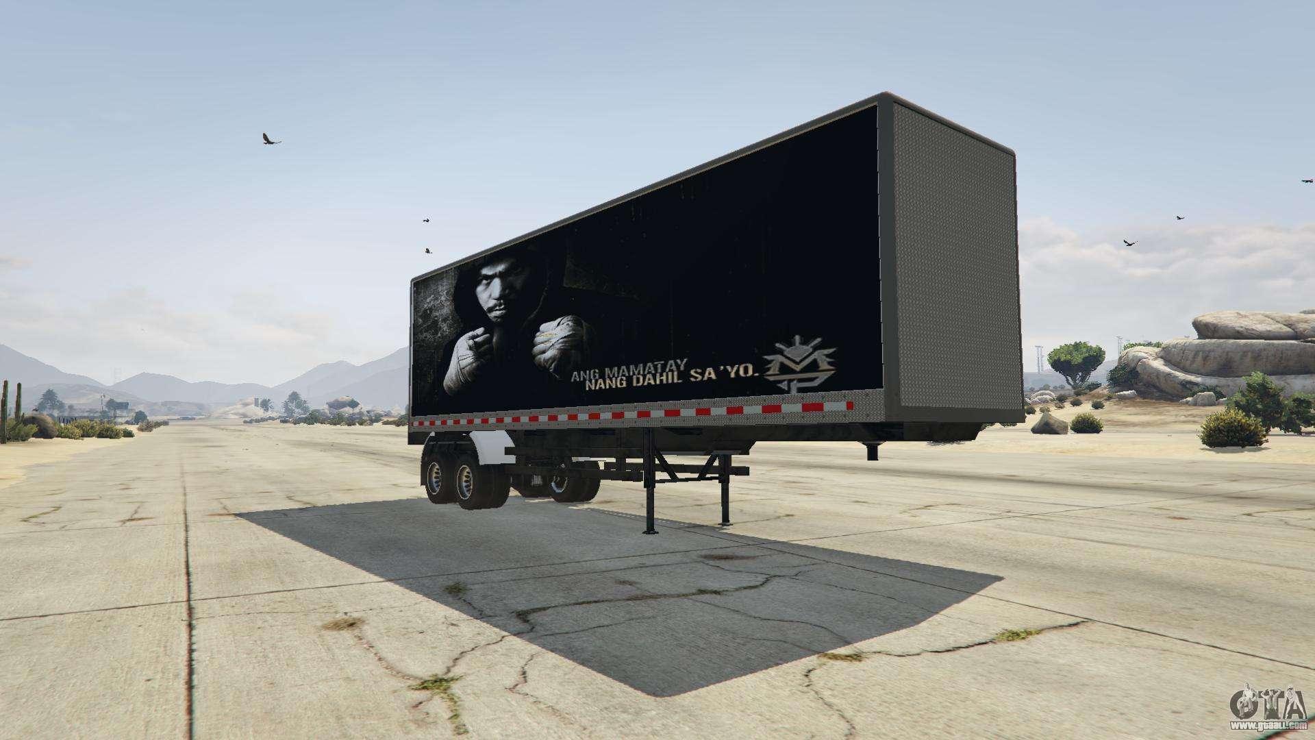 manny pacquiao trailer v1 1 for gta 5. Black Bedroom Furniture Sets. Home Design Ideas