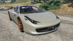 Ferrari 458 Italia 2009 v1.4 for GTA 5