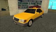 Mercedes-Benz W140 500SE Taxi 1992 for GTA San Andreas