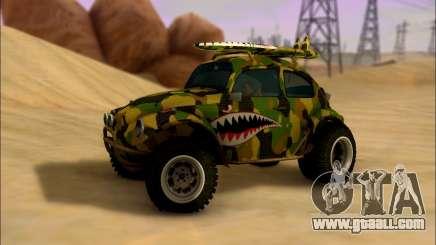 Volkswagen Baja Buggy Camo Shark Mouth for GTA San Andreas
