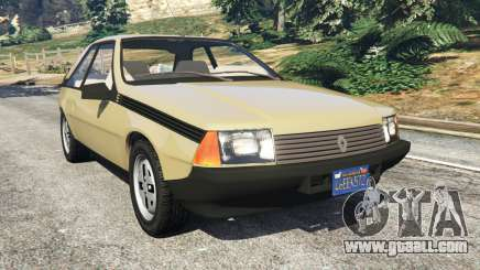 Renault Fuego 1980 for GTA 5