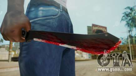 GTA 5 Machete (From Lowider DLC) Bloody for GTA San Andreas