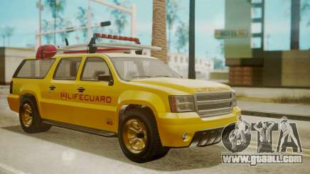 GTA 5 Declasse Granger Lifeguard for GTA San Andreas