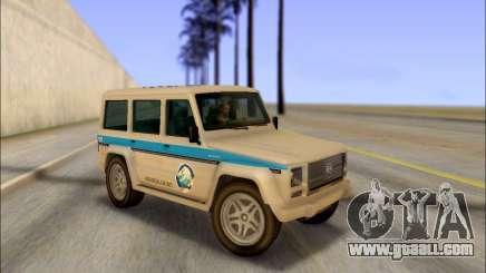 Benefactor Dubsta Jurassic World Paintjob for GTA San Andreas