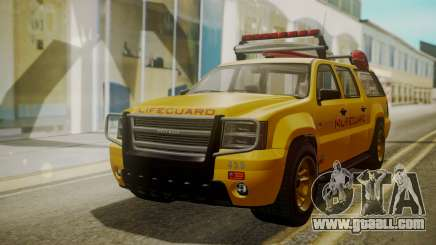 GTA 5 Declasse Granger Lifeguard IVF for GTA San Andreas
