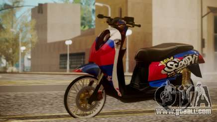 Honda Scoopy New Red and Blue for GTA San Andreas