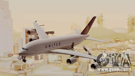 Airbus A380-800 United Airlines for GTA San Andreas