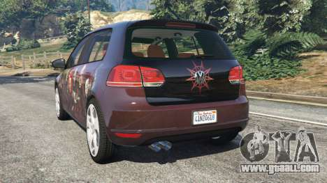 GTA 5 Volkswagen Golf Mk6 v2.0 [Slipknot] rear left side view
