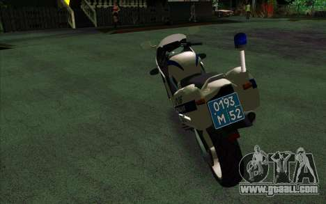 BMW R1200S of Motobot (DPS) for GTA San Andreas back left view