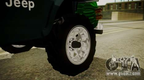 Jeep Willys Cafetero for GTA San Andreas back left view