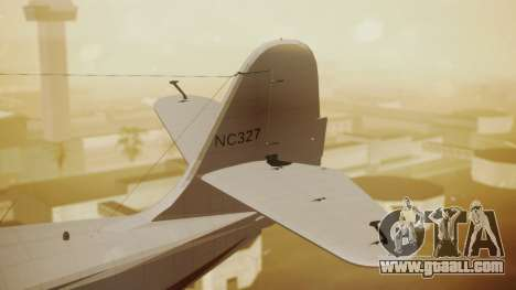 Grumman G-21 Goose NC327 Cutter Goose for GTA San Andreas back left view
