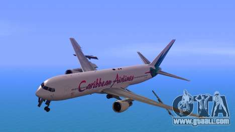 Boeing 767-300 Caribbean Airlines for GTA San Andreas back left view