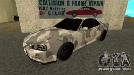 Nissan Skyline R34 Army Drift for GTA San Andreas