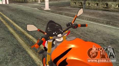 Honda Hornet Repsol 2010 for GTA San Andreas back view