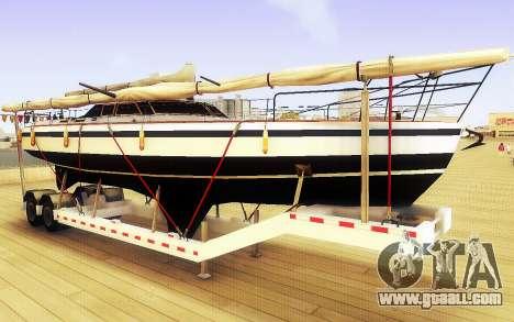 GTA V Big Boat Trailer for GTA San Andreas