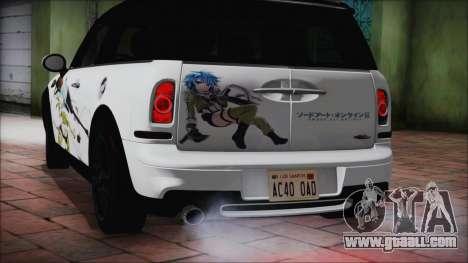 Mini Cooper Clubman 2011 Itasha for GTA San Andreas right view
