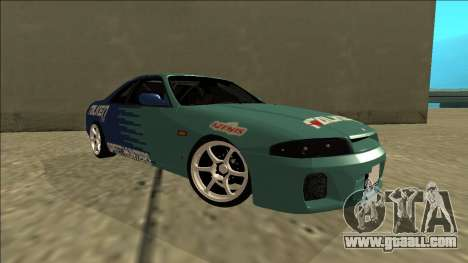 Nissan Skyline R33 Drift Falken for GTA San Andreas right view