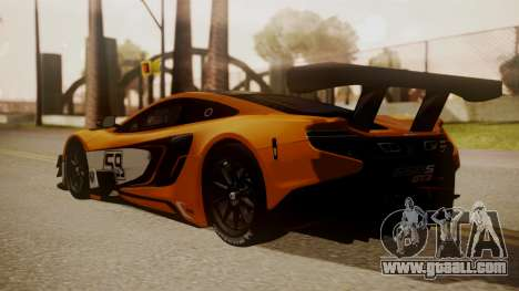 McLaren 650S GT3 2015 for GTA San Andreas left view