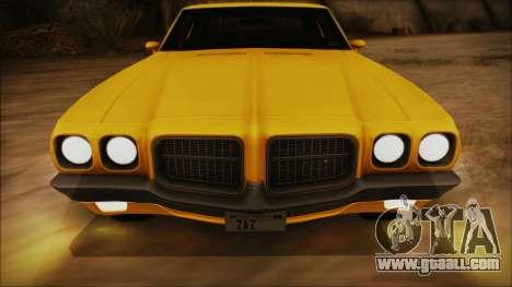 Pontiac Lemans Hardtop Coupe 1971 IVF АПП for GTA San Andreas side view