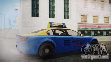 Cheval Fugitive Downtown Cab Co. Taxi for GTA San Andreas left view