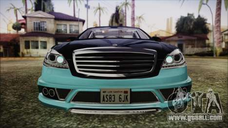 Carlsson Aigner CK65 RS v1 Headlights for GTA San Andreas inner view