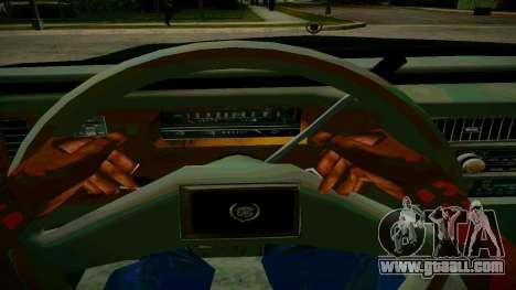 Cadillac Fleetwood Brouhman 1985 for GTA San Andreas inner view