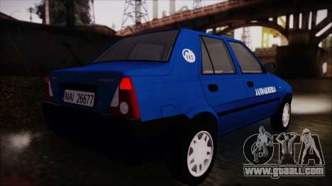 Dacia Solenza Jandarmeria for GTA San Andreas left view