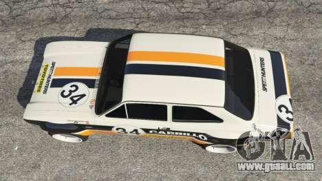 GTA 5 Ford Escort MK1 v1.1 [Carrillo] back view