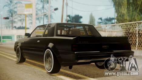GTA 5 Faction Stock DLC LowRider for GTA San Andreas back left view