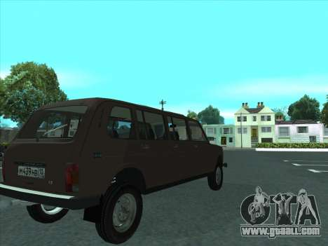 VAZ 2131 Samudera for GTA San Andreas back view