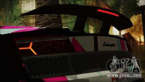 Lamborghini Gallardo LP570-4 2015 Miku Racing 4K for GTA San Andreas side view