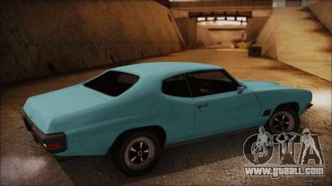 Pontiac Lemans Hardtop Coupe 1971 for GTA San Andreas left view