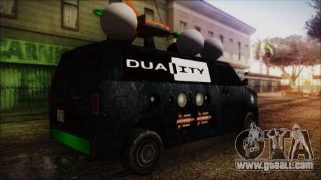 Duality Van - Furgoneta Duality for GTA San Andreas left view