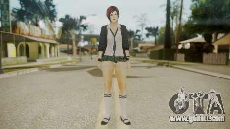 DoA School Grl for GTA San Andreas second screenshot