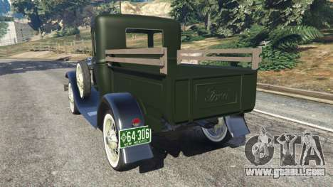 GTA 5 Ford Model A Pick-up 1930 rear left side view