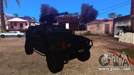 Komatsu LAV 4x4 with Vulcan Gatling Gun for GTA San Andreas back left view