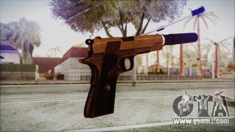 Original Colt 45 Silenced HD for GTA San Andreas third screenshot