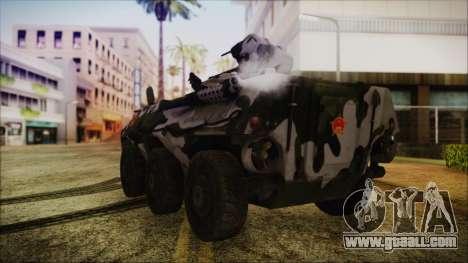 Norinco Type 92 from Mercenaries 2 for GTA San Andreas left view