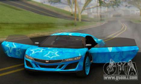 Dinka Jester (GTA V) Blue Star Edition for GTA San Andreas back view