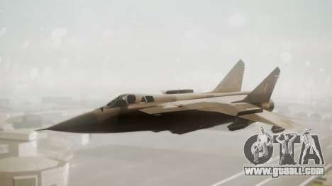 Mikoyan MiG-31 Yuktobanian Air Force for GTA San Andreas