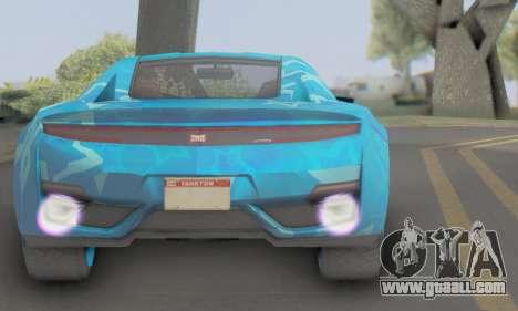 Dinka Jester (GTA V) Blue Star Edition for GTA San Andreas back left view