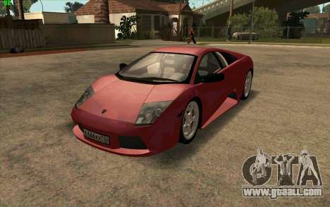 Lamborghini Murcielago for GTA San Andreas left view