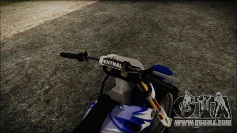 Yamaha YZ250 for GTA San Andreas right view
